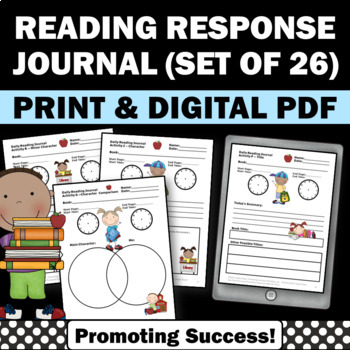 reading response journal for kids activities worksheets