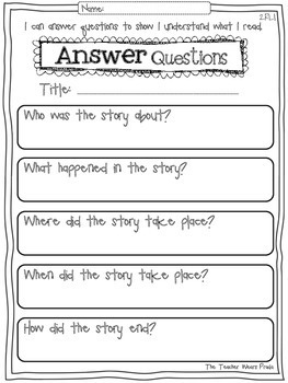 common core reading response activities 2nd grade by the teacher wears prada. Black Bedroom Furniture Sets. Home Design Ideas