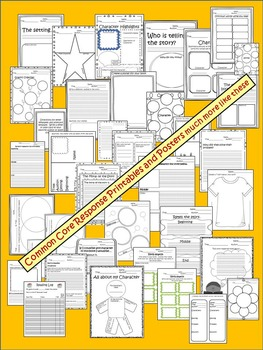 Common Core Reading Response Printables  Fiction & Non-Fiction & 40 posters K-3
