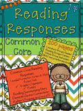 Common Core Reading Response Printables  Fiction & Non-Fic