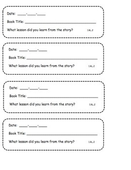 Common Core Reading Response Prompts