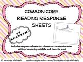 Kindergarten Common Core Reading Response Sheets in Spanish