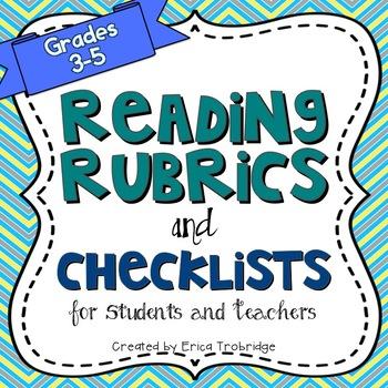 Common Core Reading Rubrics & Checklists {Fiction and Nonfiction}