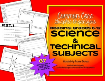 Reading Science & Technical Subjects Graphic Organizers 6-12
