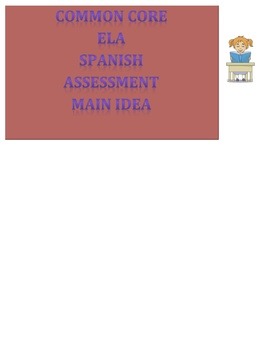 Common Core Reading Spanish - Main Idea Graphic Organizer