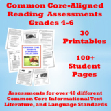 Common Core Reading Standards Assessments Practice: 100+ Student Pages