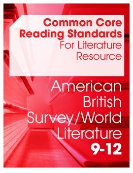 Common Core Reading Standards For Literature Resource Bundle (Grades 9-12)