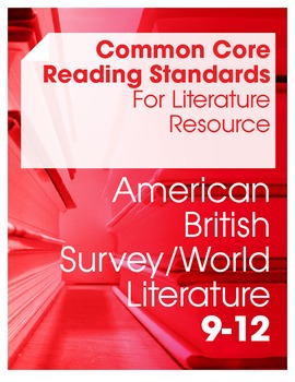 Common Core Reading Standards For Literature Resource Bund