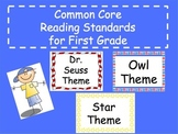 Common Core Reading Standards for First Grade