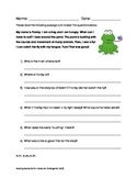 Common Core Reading Standards for Literature: Kindergarten (RLK) Assessment