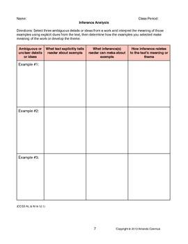 Common Core Reading Standards for Literature Resource--World Lit (Grades 9-12)