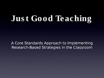 Common Core Reading Strategies Over 100 Slides