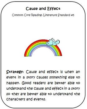 Common Core Reading Strategy Cause and Effect Activities and Rubric