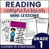 Reading Comprehension Strategy Mini Lessons Printable & Google Slides-1st Grade