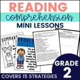 Reading Comprehension Strategy Mini Lessons Printable & Google Slides-2nd Grade
