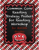 Common Core Reading Strategy Posters for Reading Workshop