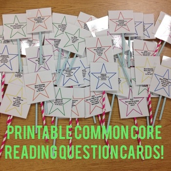Common Core Reading Strategy Questioning Stars!