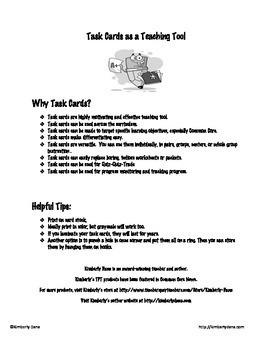Common Core Reading Skills Task Card Bundle