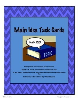 Common Core Reading Skills Task Card Bundle