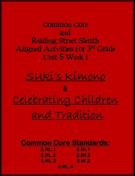 Common Core & Reading Street Sleuth Unit 5 Week 1