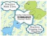 Common Core Reading Summarize  Strategy- Dinosaurs Main Idea