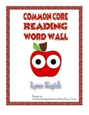 Common Core Reading Terms Word Wall