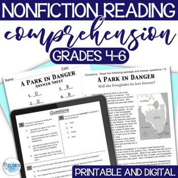 Reading Test Prep - NON-FICTION - Passages/Questions - CCSS - 4-6