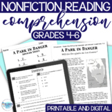 Reading Test Prep - NON-FICTION Comprehension Passages - Common Core Aligned