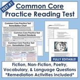 Common Core Reading Test Prep #1: Editable Assessment & Remediation Materials