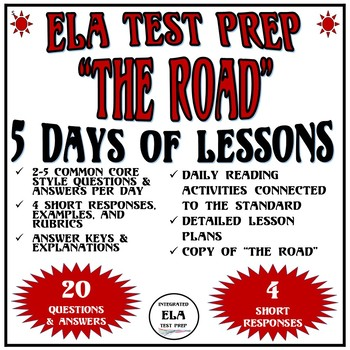 Common Core ELA Reading Test Prep 5 Days of Lessons: The Road by Jack London
