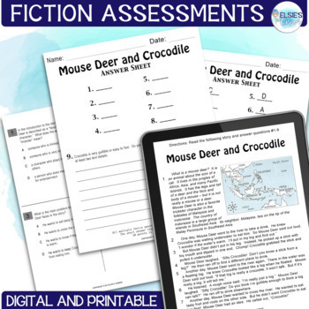 Reading Test Prep - FICTION Comprehension Passages - Grades 3-5 - Common Core
