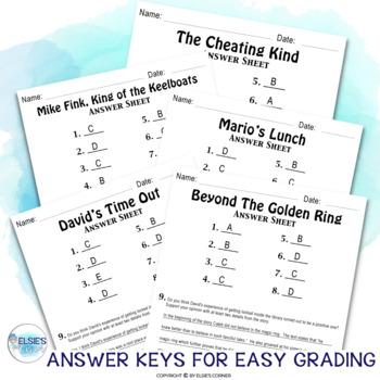 Reading Comprehension Test Prep - Fiction - grades 4-6 - Common Core