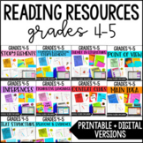 Reading Resources | 4th and 5th Grade Common Core Reading Supplements