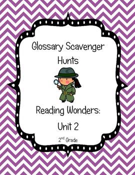 Common Core Reading Wonders Glossary Scavenger Hunts Unit 2