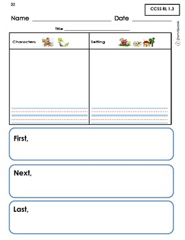 Common Core Reading Workbook for 1st Grade (Graphic Organizers & Practice Tests)