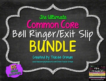 English Reading & Writing Bell Ringers Exit Slips BUNDLE Vol 1