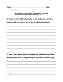 "Common Core Reading handout for ""Mush!Sled Dogs of the Iditarod"""