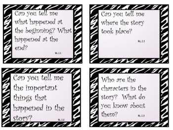 Common Core Reading/Phonics Question Prompt Task Cards First Grade