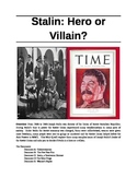 Common Core (Reading/Writing Standards)- Stalin: Villain or Hero?