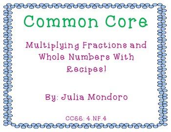 Common Core Recipe Task Cards!