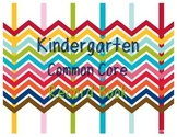 Common Core Record Book for Kindergarten