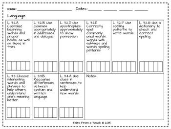 Common Core Recording Sheets: Third Grade