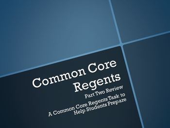 Common Core Regents Review Part Two