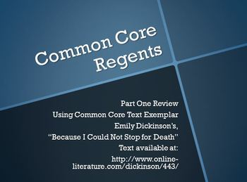 Common Core Regents Review for PART ONE
