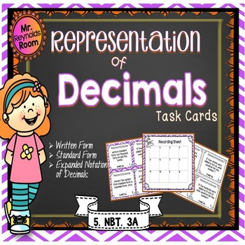 Decimals Task Cards: Standard and Written Form