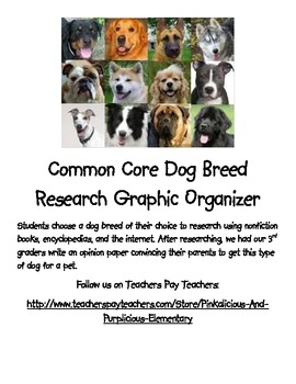 Common Core Research Opinion Writing Dog Breed