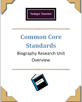 Common Core: Research Biography Unit Overview