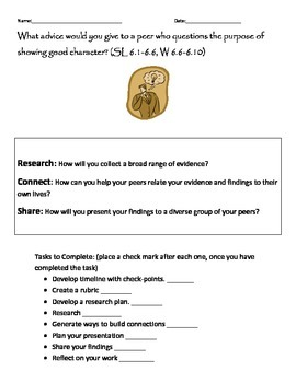 Common Core Research project and presentation