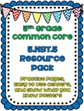 Common Core Resource Pack: 5.NBT.5 {Multiplying Whole Numbers}