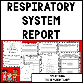 Respiratory System Research Report for Fourth and Fifth Grades